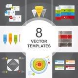 Bundle of vector templates. stock illustration
