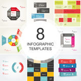 Bundle of vector templates. Royalty Free Stock Photo