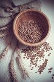 Bundle of wheat on white background Royalty Free Stock Photography