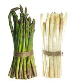 Bundle of white and green  asparagus Royalty Free Stock Photos
