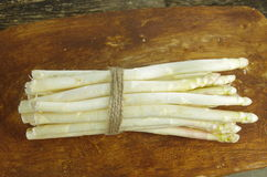 Bundle of white and green asparagus Stock Photo