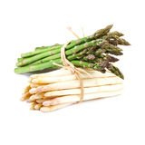 Bundle of white  and green asparagus Stock Photography