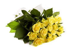 Bundle yellow roses Stock Photo