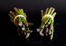 Bundled asparagus Royalty Free Stock Images
