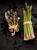 Bundled asparagus directly above Royalty Free Stock Photos