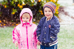 Bundled children Royalty Free Stock Images