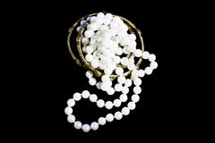 Bundled fashion pearls and bracelets Royalty Free Stock Images