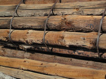 Bundled Old Logs Royalty Free Stock Photography