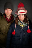 Bundled Up Couple Royalty Free Stock Photography
