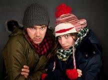 Bundled Up Couple Royalty Free Stock Image