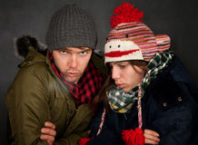 Bundled Up Couple Stock Photo