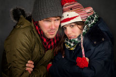 Bundled Up Couple Stock Image