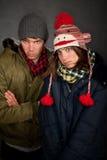Bundled Up Couple Stock Photo