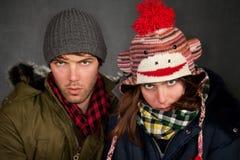 Bundled Up Couple Royalty Free Stock Photo