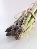Bundled up green asparagus Royalty Free Stock Photo