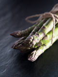 Bundled up green asparagus Royalty Free Stock Photos