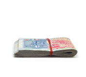 A bundled up stack of singapore dollars Royalty Free Stock Photo