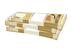 Bundles of banknotes Stock Photography