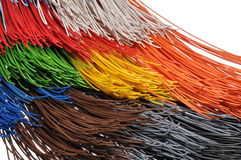 Bundles of cables. In broadband networks Stock Images