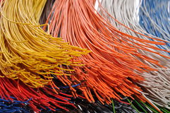 Bundles of cables. In broadband networks Royalty Free Stock Photos