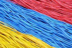 Bundles of cables. Computer and internet network Stock Photography