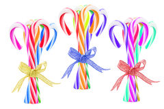Bundles of Colorful Candy Canes Stock Photos