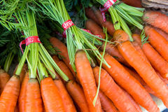 Bundles of Colorful Carrots Royalty Free Stock Photography