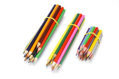 Bundles of Colour Pencils Royalty Free Stock Photography