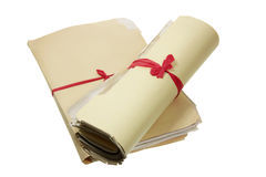 Bundles of Documents Stock Photography