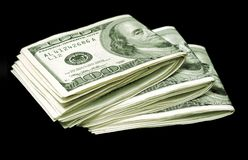 Bundles of dollar bills Stock Photography
