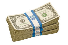 Bundles Of Dollar Bills Royalty Free Stock Photos