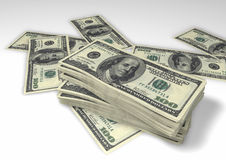 Bundles of Dollars Royalty Free Stock Image