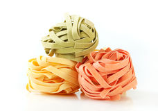 Dried ribbon pasta Stock Images