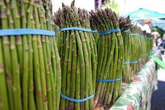 Bundles of farm fresh Asparagus Stock Photography