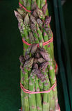 Bundles of fresh green asparagus close up royalty free stock photography