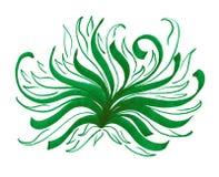 Bundles of green grass. Long wavy lines marker. royalty free illustration