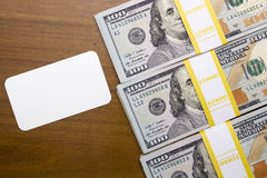 Bundles of hundred dollar bills Stock Images