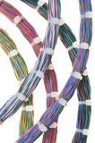 Bundles of network cables. With cable ties Stock Image