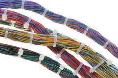 Bundles of network cables Royalty Free Stock Images