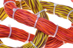 Bundles of network cables. Fast transfer of information Royalty Free Stock Photo