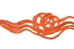 Bundles of network cables. On white background Royalty Free Stock Photo