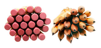 Bundles of Pencils Stock Images