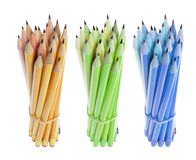 Bundles of Pencils Royalty Free Stock Images