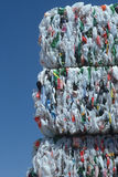 Bundles of plastic for recycling Royalty Free Stock Images