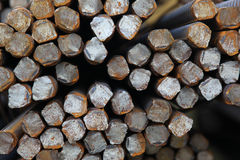 Bundles of rolled metal fittings Stock Images