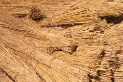 Bundles of Roof Thatching Grass Royalty Free Stock Photos