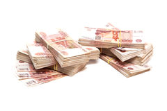 Bundles of Russian money Royalty Free Stock Photography