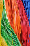 Bundles of wires in global network system. Cables in the global telecommunications networks Stock Photos