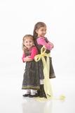 Bundna upp systrar Fotografering för Bildbyråer