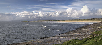 Bundoran surfers beach panorama Royalty Free Stock Image